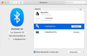 Connect AirPods to Mac