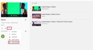 Delete to remove the playlist