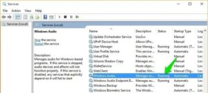Windows-Audio-Service
